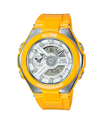 """นาฬิกา Casio Baby-G G-MS """"G-Steel Lady"""" MSG-400 series รุ่น MSG-400-9A สีเหลือง (ไม่วางขายในไทย) ของแท้ รับประกันศูนย์ 1 ปี"""