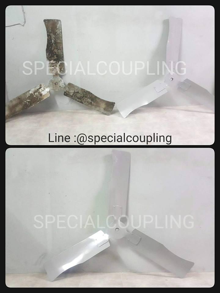 """รับผลิตใบพัดลมเหล็กตามตัวอย่างคะ พร้อมบาลานส์ (ขนาดในภาพ od 520cm id 1"""") ขายปลีกและส่ง"""