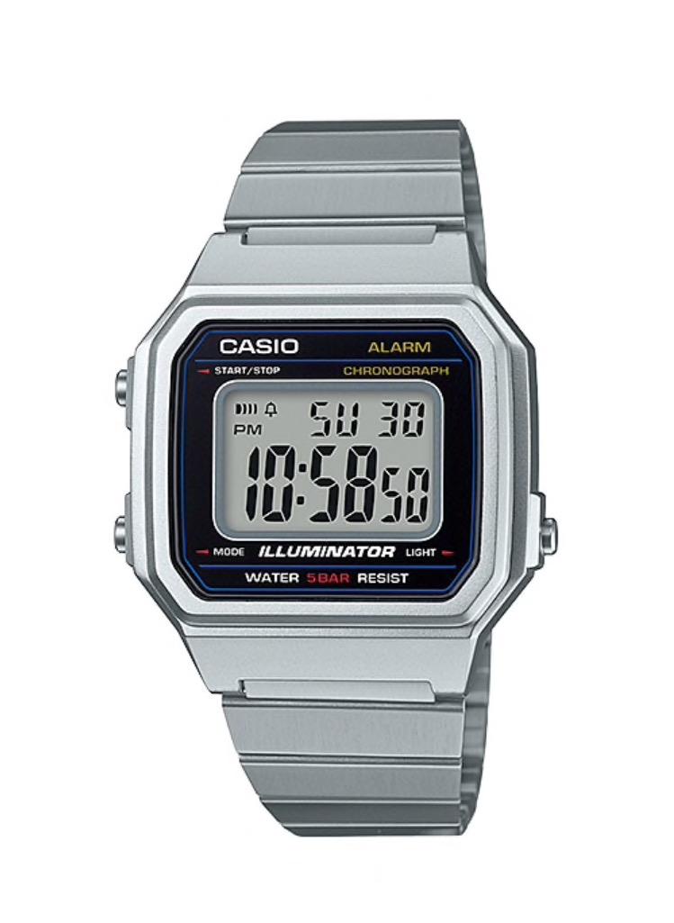 นาฬิกา คาสิโอ Casio STANDARD DIGITAL B650 series รุ่น B650WD-1A (Silver Tone) ของแท้ รับประกันศูนย์ 1 ปี
