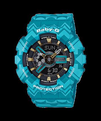 นาฬิกา Casio Baby-G Tribal Pattern series รุ่น BA-110TP-2A ของแท้ รับประกันศูนย์ 1 ปี