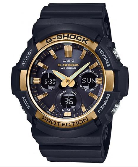 นาฬิกา Casio G-Shock Standard ANALOG-DIGITAL Tough Solar GAS-100 series รุ่น GAS-100G-1A (สีดำ-ทอง) ของแท้ รับประกัน1ปี