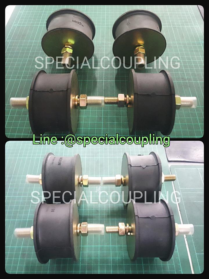 จำหน่ายยางรองแท่นเครื่องDouble stud ขนาด od 90mm L 50 mm เกลียวm.12 รับน้ำหนักได้ 600 กิโลต่อตัว พร้อมส่งคะ