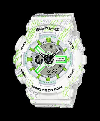 นาฬิกา Casio Baby-G BA-110TX Textile pattern series รุ่น BA-110TX-7A ของแท้ รับประกันศูนย์ 1 ปี
