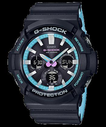 นาฬิกา Casio G-Shock Special Pearl Blue Neon Accent Color series รุ่น GAS-100PC-1A ของแท้ รับประกันศูนย์ 1 ปี