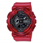 นาฬิกา Casio Baby-G BA-110CR เจลลี่ใส CORAL REEF series รุ่น BA-110CR-4A (เจลลี่แดงทับทิม) ของแท้ รับประกันศูนย์ 1 ปี